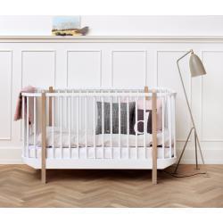 041424 oliver furniture Wood Baby- und Kinderbett   weiß / Eiche