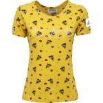 0534AB maglia donna BEST COMPANY yellow multicolor cotton t-shirt woman