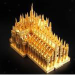 1: 730 Milan Cathedral Architektur Modell 3D Metall Puzzle Spielzeug Wohnkultur