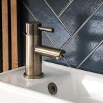 1-Loch Einhebel-Waschtischarmatur Gebürstetes Gold - Clarus, von Hudson Reed