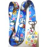 1 X Blue Anime Snoopy Lanyard Keychain Holder, Mp3, Phone.... by Unknown