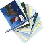 10-er Set Postarten A6 • MIX-0892 ''Postkarten-Set mit Bleistift • Xmas 9'' von Inkognito • Künstler: INKOGNITO