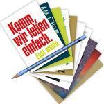 10-er Set Postarten A6 • MIX-0906 ''Postkarten-Set mit Bleistift • Sprüche-allday'' von Inkognito • Künstler: INKOGNITO