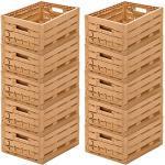 10 Stk Obstkiste Klappbox Lagerkiste Holzdesign Apfelkiste 400x300x165mm Gastlando