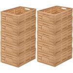 10 Stk Obstkiste Klappbox Lagerkiste Holzdesign Apfelkiste 600x400x165mm Gastlando