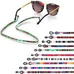 10 Stück Brillenkette Brillenband Baumwolle Brillen Ketten Brillenkordel mit einstellbare Anti Rutsch Gummischlaufe Brillen Halter Brillenschnur für Lesebrillen Sonnenbrillen Schutzbrillen Sport