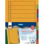 10 Trennblätter/ Register A4 farbig, besonders stabiler Karton