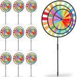 10 x Windrad Regenbogen 3D Windmühle Gartendeko outdoor Garten Windrad Windspiel mehrfarbig