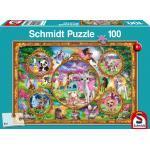 100 Teile Schmidt Spiele Kinder Puzzle Animal Club, Einhorn-Tierwelt 56371