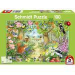 100 Teile Schmidt Spiele Kinder Puzzle Tiere im Wald 56370