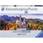 1000 Teile Ravensburger Puzzle Deutschland Collection Panorama Schloss Neuschwanstein Bayern 15161