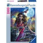 1000 Teile Ravensburger Puzzle Patronin der Wölfe 19664