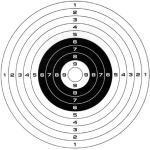 100Stk Softair Zielscheiben Gamo-14cmx14cm, 10er Ringeinheiten