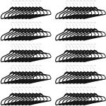 100x Kleiderbügel schwarz Rockbügel rutschfest Kunststoffkleiderbügel Hosenbügel