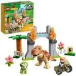 10939 DUPLO Ausbruch des T. rex und Triceratops, Konstruktionsspielzeug Dinosaurier Spielzeug Set für Kleinkinder ab 2 Jahren
