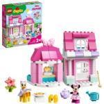 10942 DUPLO Minnies Haus mit Café, Konstruktionsspielzeug Minnie Maus Spielzeug zum Bauen ab 2 Jahren, Kinderspielzeug mit Puppenhaus