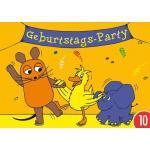 10er-Pack: Postkarte A6 +++ Sendung Mit Der Maus Von Modern Times +++ Geburtstagsparty +++ Artconcept © Schmitt-Menzel/streich