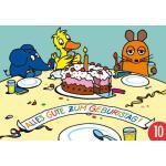10er-Pack: Postkarte A6 +++ Sendung Mit Der Maus Von Modern Times +++ Geburtstagstisch +++ Artconcept © Schmitt-Menzel/streich
