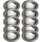 10er Set LED Einbau Strahler Spots beweglich Schlaf Zmmer Leuchten Flur Lampen Karton beschädigt