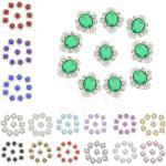 10pcs Ovaler Flatback Kristall Schmucksteine Strasssteine Kleidung Deko DIY