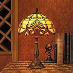 12-Inch Barock europäische Tiffany Tischlampe Schlafzimmerlampe Nachttischlampe