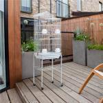 122 cm Vogelkäfig Kaitlynn aus Stahl mit Rädern