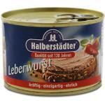 12er Pack Halberstädter Leberwurst (12 x 160 g) Leberwurst in der Dose, Konserve, Wurstkonserve, Konservendose