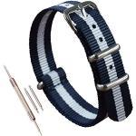 Weiße Uhrenarmbänder poliert mit NATO-Armband für Herren
