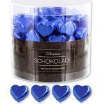 150 blaue Schokolade Herzen Kopenhagen