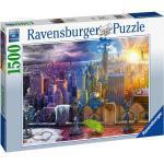 1500 Teile Ravensburger Puzzle New York im Winter und Sommer 16008