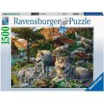 1500 Teile Ravensburger Puzzle Wolfsrudel im Frühlingserwachen 16598