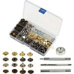 160 Set Metall Druckknöpfe,KAKOO Metallknöpfe Snaps Button Knöpfe 12.5MM Schnappverschluss mit 4tlg Werkzeug Locheisen in Box für Jeans Leder Stoff Handwerk