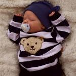 17.5 Zoll Lebensechte Puppe Baby Kleinkind Spielzeug Baby Wiedergeborene Babypuppe Saskia Neugeborenes lebensecht Handgefertigt Simulation Floppy Head Stoff Silikon Vinyl mit Kleidung und miniinthebox