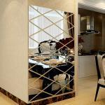 17-Tlg Spiegelfliesen Aufkleber Spiegelfliesen Selbstklebend Wandspiegel