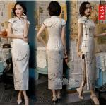 19 Farben Damenmode Chinesisch Traditionell Qipao Party Abendkleid Cheongsam 4XL