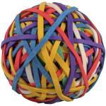(2,29 EUR/100 g) Staples Gummibänder Ball verschiedene Größen farbig sortiert 150 Stück