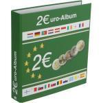 2 Euromünzen Sammelalbum mit 5 Einsteckblättern für bis zu 80 Münzen im Format 2 Euro