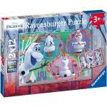 2 x 12 Teile Ravensburger Kinder Puzzle Disney Frozen 2 Alle lieben Olaf 05153