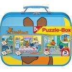 2 x 26 + 2 x 48 Teile Schmidt Spiele Kinder Puzzle Die Maus Puzzle-Box Metallkoffer 55597