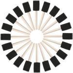 20 Stücke Schwammpinsel Schaum Pinsel Schaumstoffpinsel Zeichnung Werkzeug