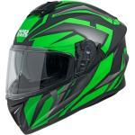 216 2.1 Motorradhelm, matt schwarz-grün M