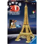 216 Teile Ravensburger 3D Puzzle Bauwerk Eiffelturm bei Nacht 12579