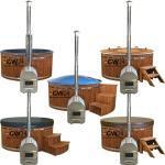 225 cm XL Badefass Badezuber Badetonne Badebottich Hot Pot GFK Außenwhirlpool