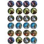 24 Muffin & Cupcake Aufleger Fondant Star Wars AMA1