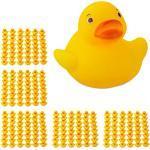 240 x Badeente, Badespielzeug, Quietscheentchen, Badequietscheentchen, Ente gelb