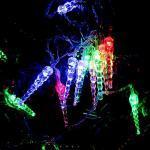 28 Zapfen 14.5 m LED Lichterkette, Eiszapfen wasserfest Lichtervorhang für Innen Außen Garten Balkon Party Hochzeit Fenster Wand Weihnachten Deko Beleuchtung Weihnachtsdeko Outdoor