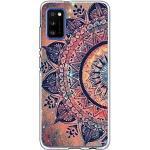 2Buyshop Handyhülle kompatibel mit Samsung Galaxy A31 Hülle Marmor Blumen Muster Silikon Handyhülle Transparent Ultra Dünn Schutzhülle für Galaxy A31