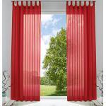 Rote gardinenbox Schlaufenschals & Ösenschals transparent