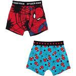 2er Pack Spiderman Jungen Boxershorts Kinder Unterhosen 92-98 / Mehrfarbig