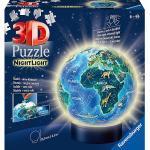 2in1 Nachtlicht & puzzleball® Ø13 cm, 72 Teile , Erde